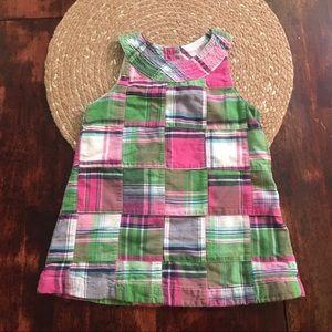 3/$20 Pandemonium plaid block pattern dress